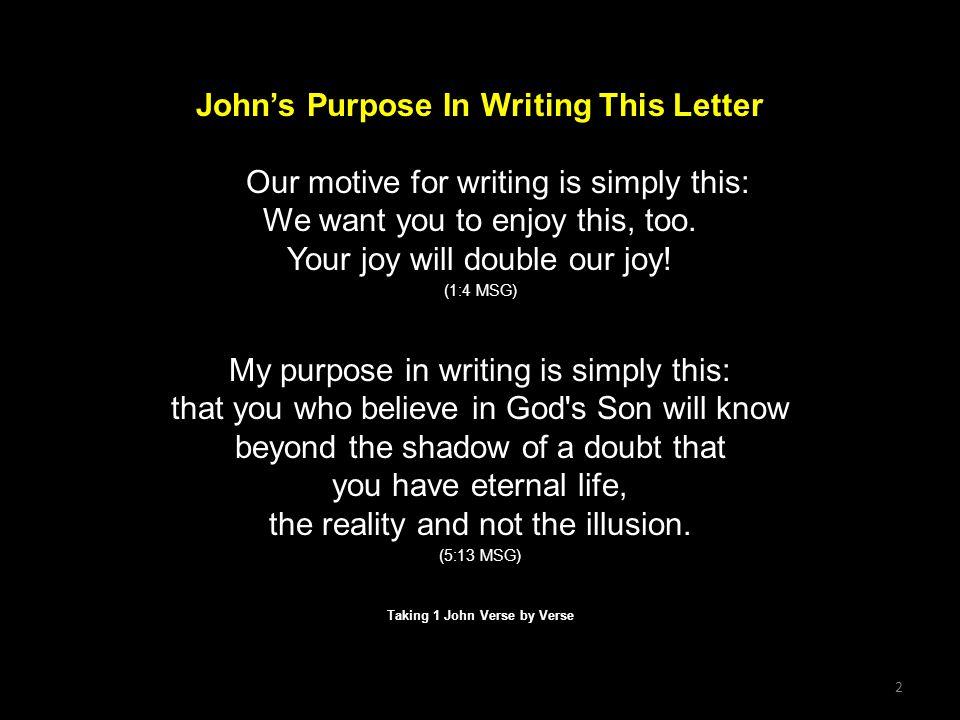 Taking 1 John Verse by Verse