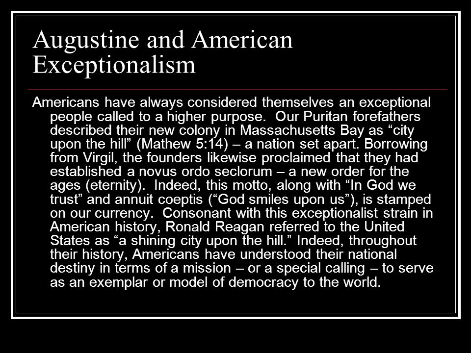 Augustine and American Exceptionalism