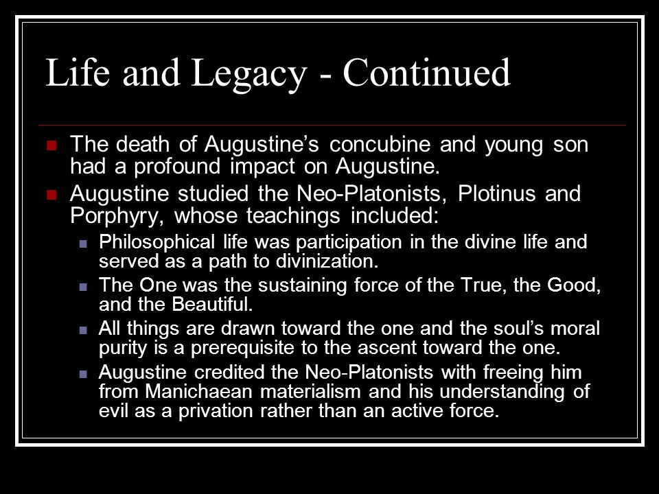 Life and Legacy - Continued