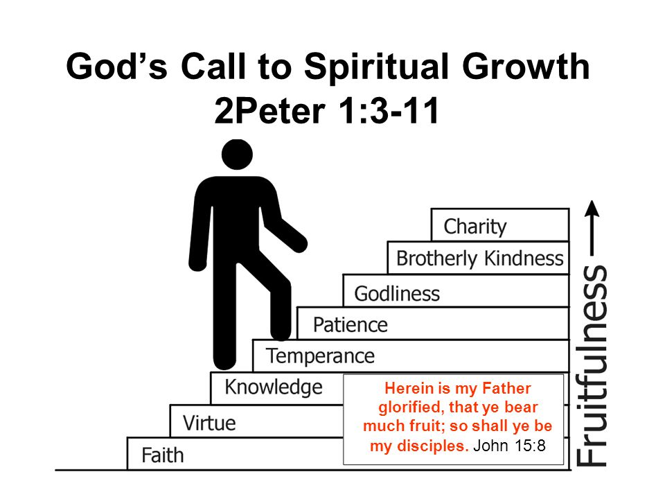 God's Call to Spiritual Growth 2Peter 1:3-11