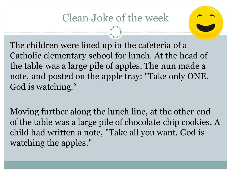 Clean Joke of the week