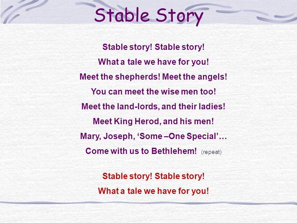 Stable Story Stable story! Stable story! What a tale we have for you!