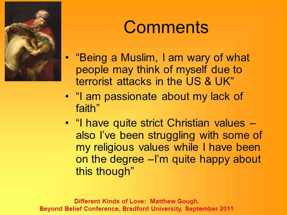 Comments Being a Muslim, I am wary of what people may think of myself due to terrorist attacks in the US & UK