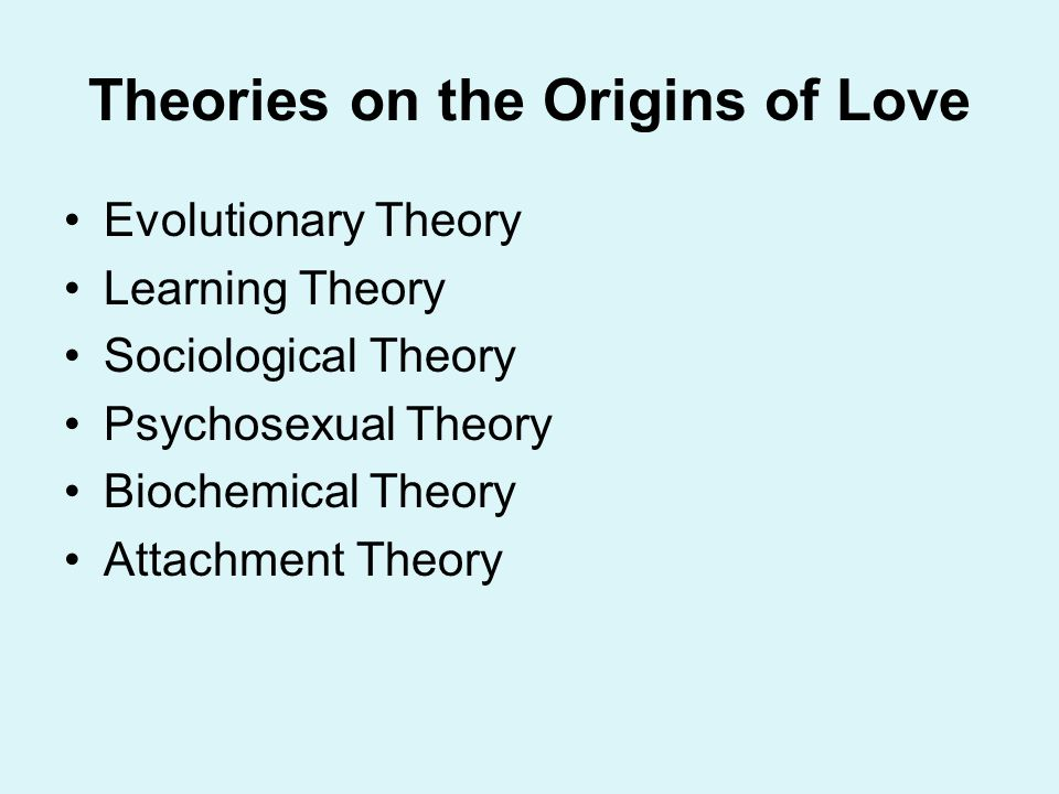 Theories on the Origins of Love