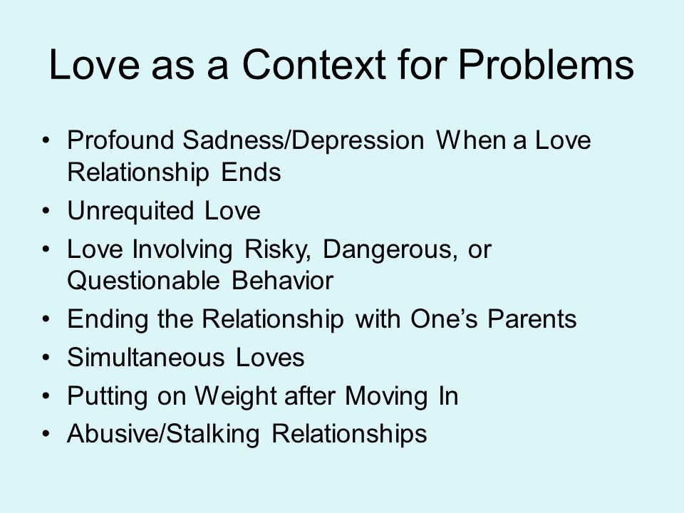 Love as a Context for Problems