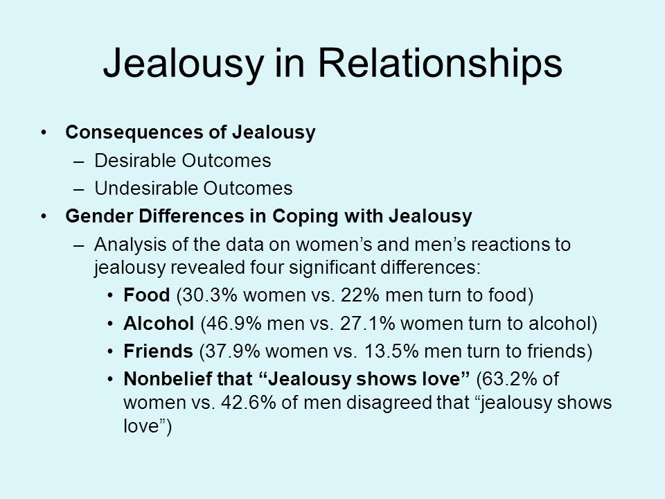 Jealousy In A Relationship Is Most Often An Indication Of