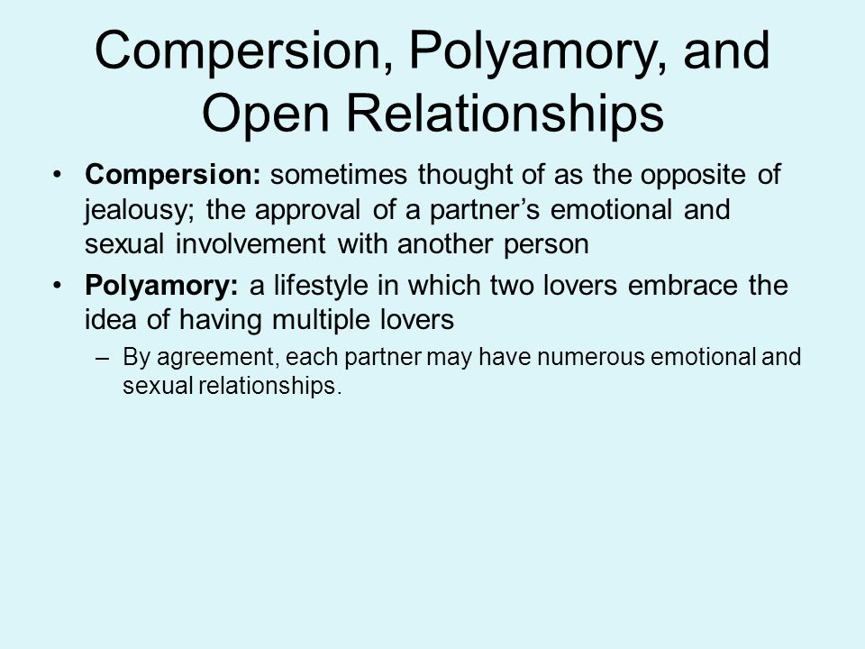 Compersion, Polyamory, and Open Relationships