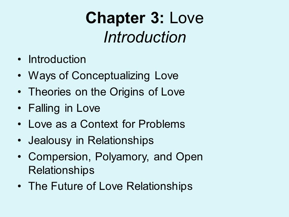Chapter 3: Love Introduction