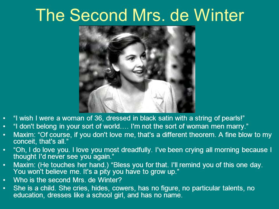 The Second Mrs. de Winter
