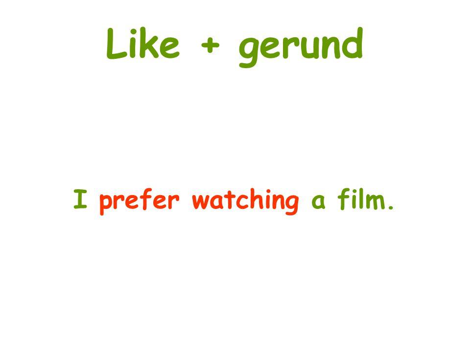 I prefer watching a film.