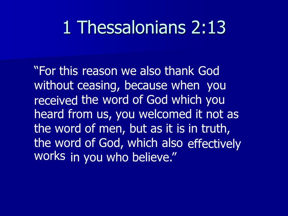 1 Thessalonians 2:13