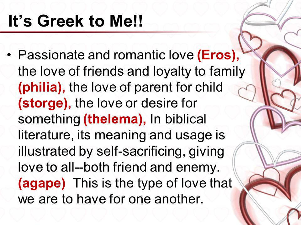 It's Greek to Me!!