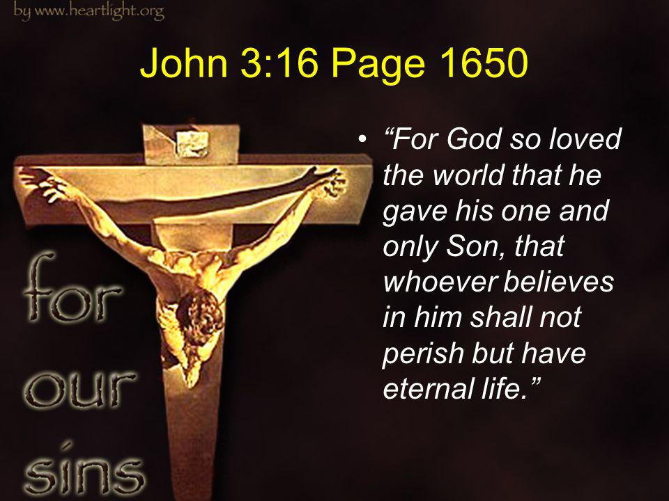 John 3:16 Page 1650