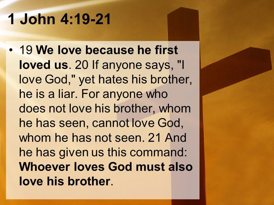 1 John 4:19-21