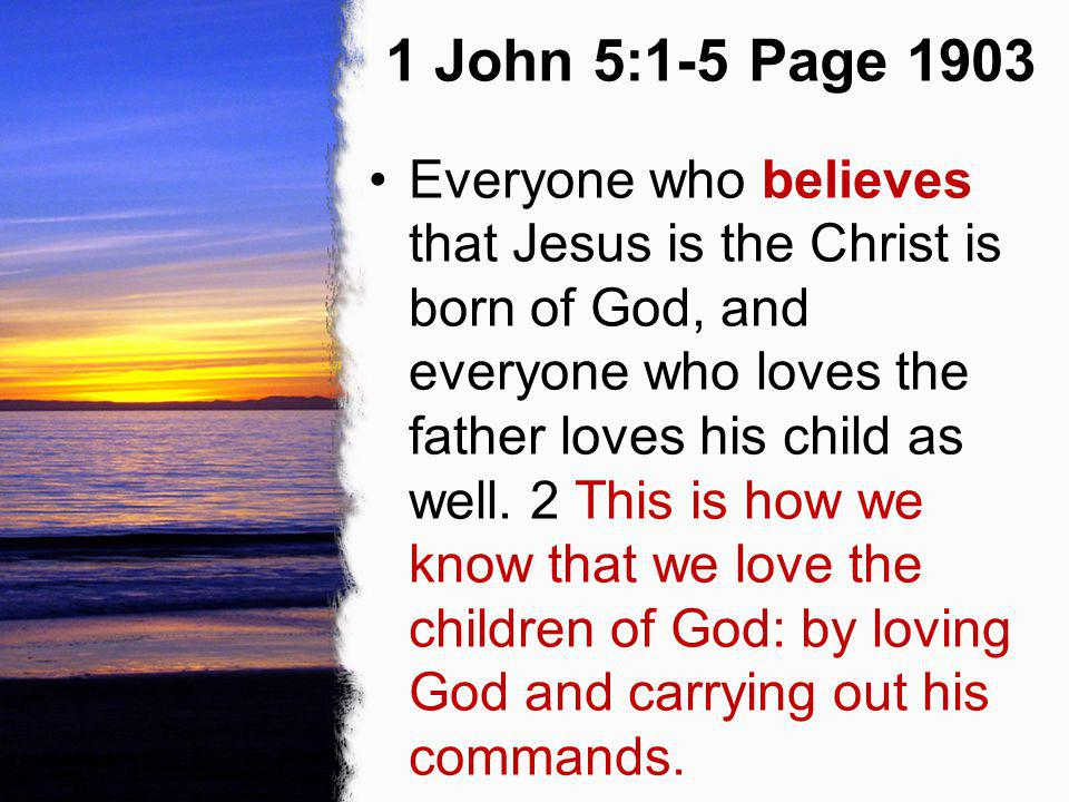 1 John 5:1-5 Page 1903