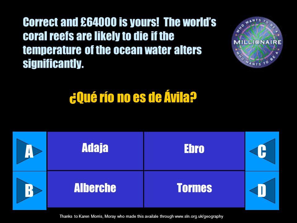 A C B D ¿Qué río no es de Ávila