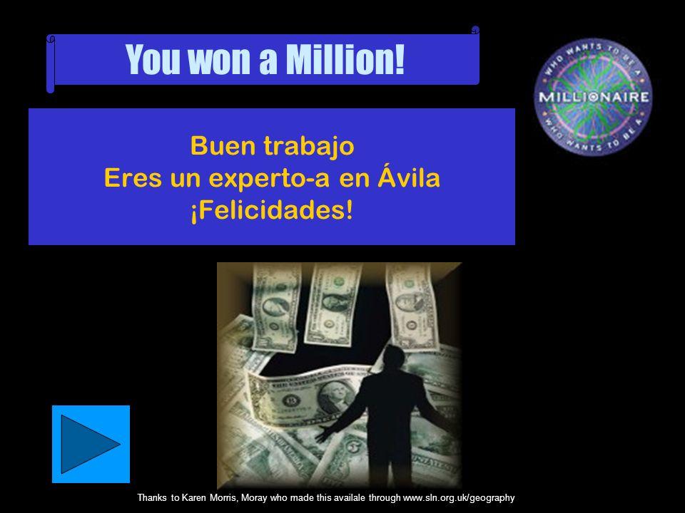 Buen trabajo Eres un experto-a en Ávila ¡Felicidades!