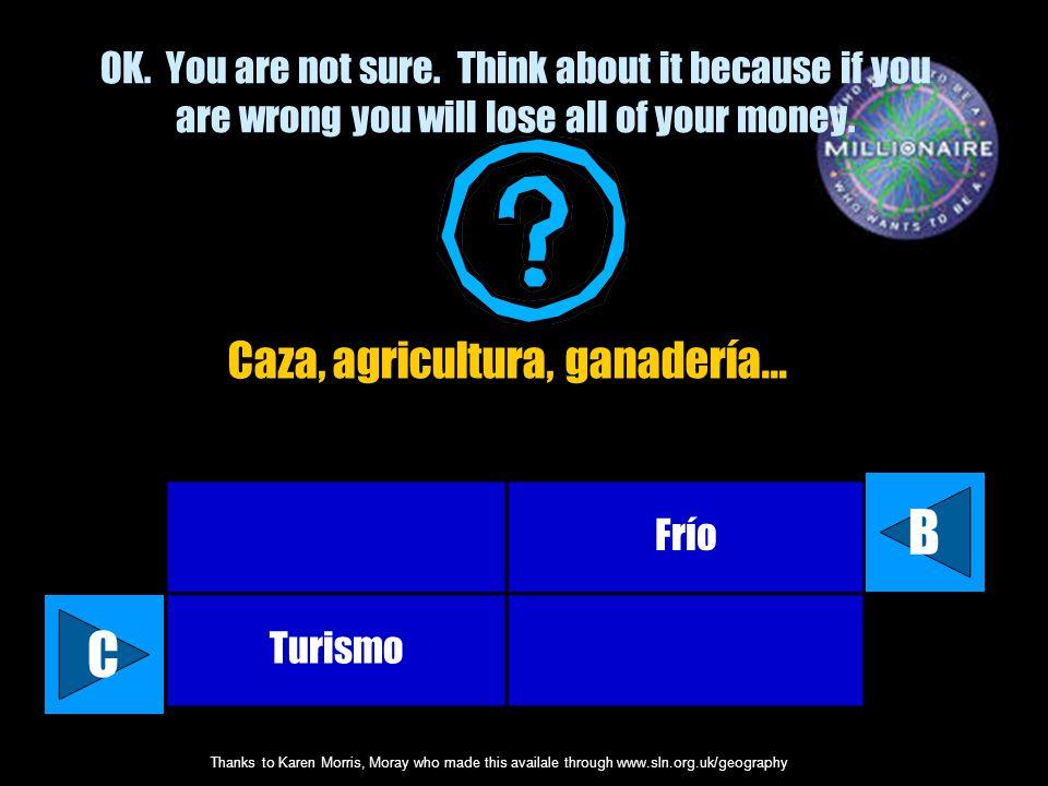 Caza, agricultura, ganadería…