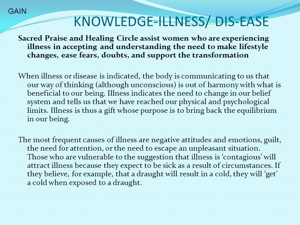 KNOWLEDGE-ILLNESS/ DIS-EASE