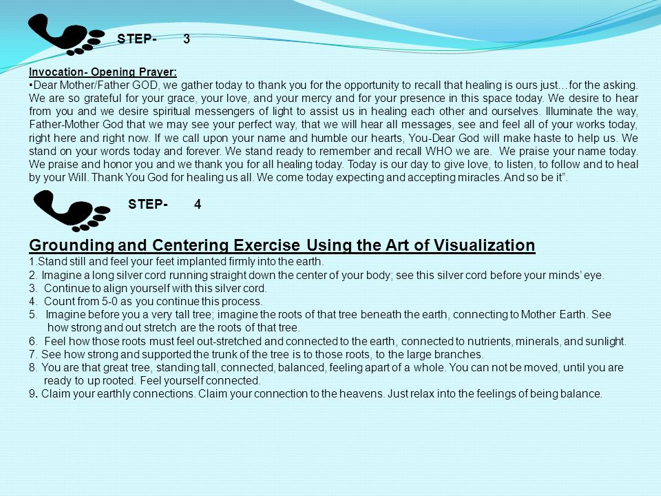 Grounding and Centering Exercise Using the Art of Visualization