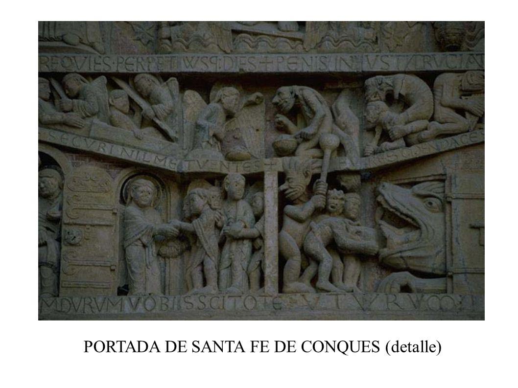 PORTADA DE SANTA FE DE CONQUES (detalle)