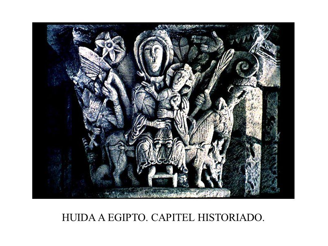 HUIDA A EGIPTO. CAPITEL HISTORIADO.