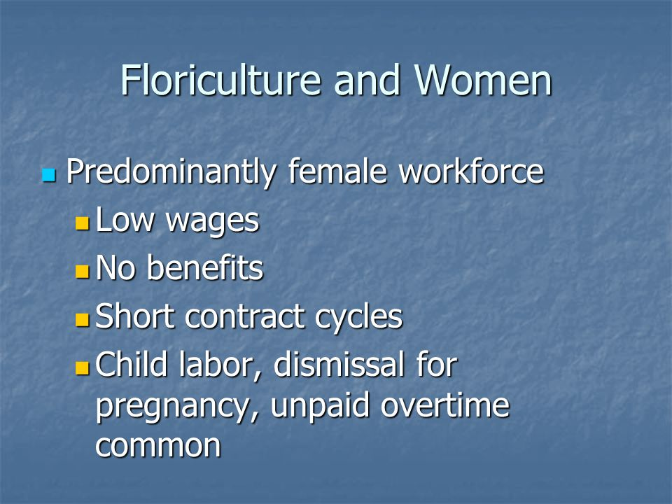 Floriculture and Women