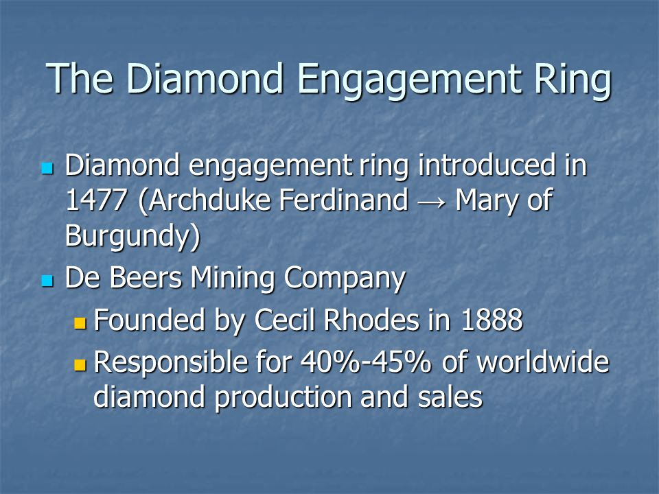 The Diamond Engagement Ring