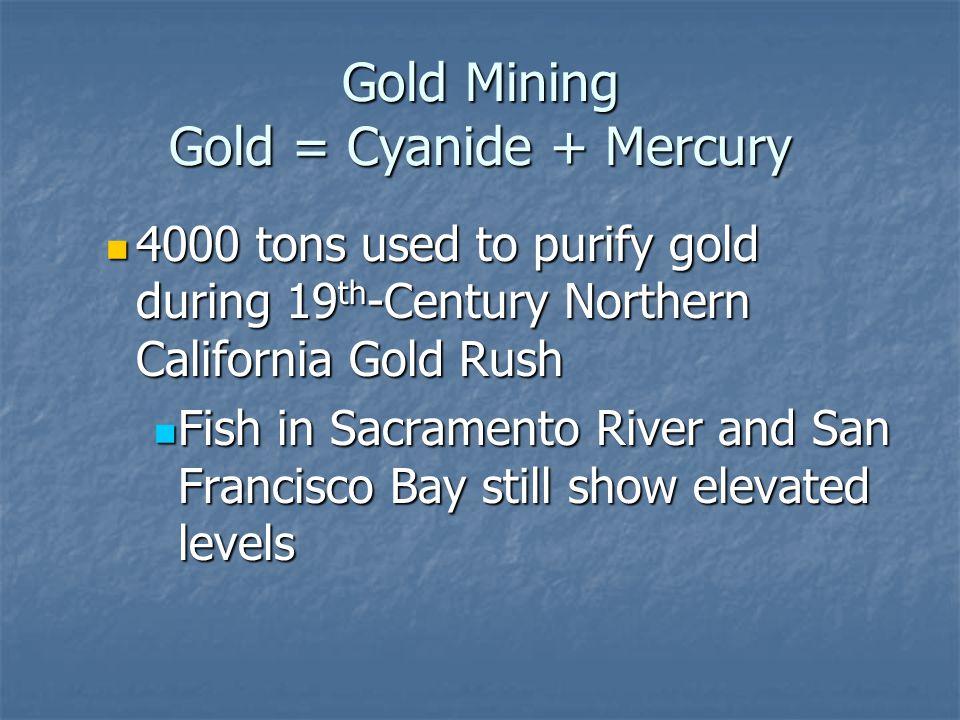 Gold Mining Gold = Cyanide + Mercury