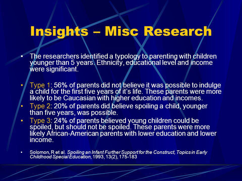 Insights – Misc Research