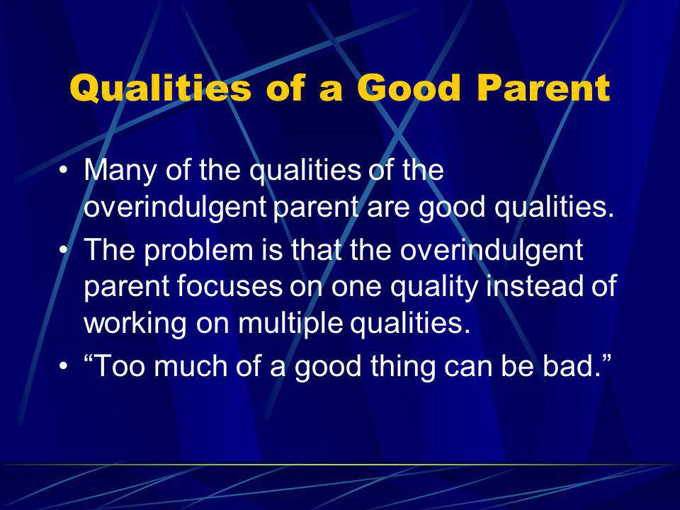 Qualities of a Good Parent