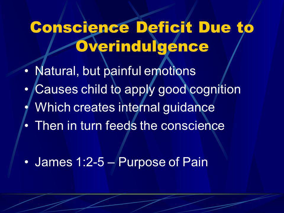 Conscience Deficit Due to Overindulgence