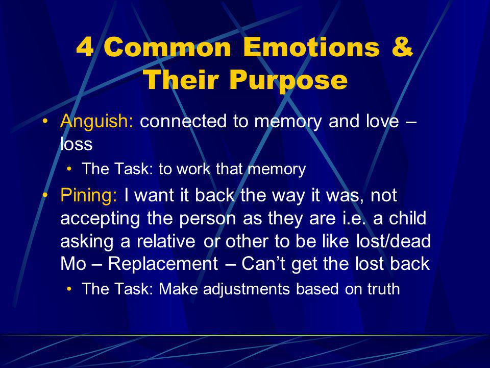 4 Common Emotions & Their Purpose