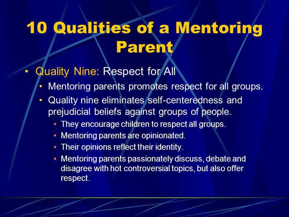 10 Qualities of a Mentoring Parent
