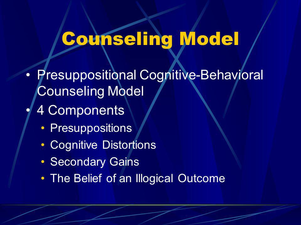 Counseling Model Presuppositional Cognitive-Behavioral Counseling Model. 4 Components. Presuppositions.