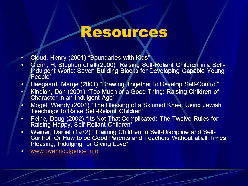 Resources Cloud, Henry (2001) Boundaries with Kids