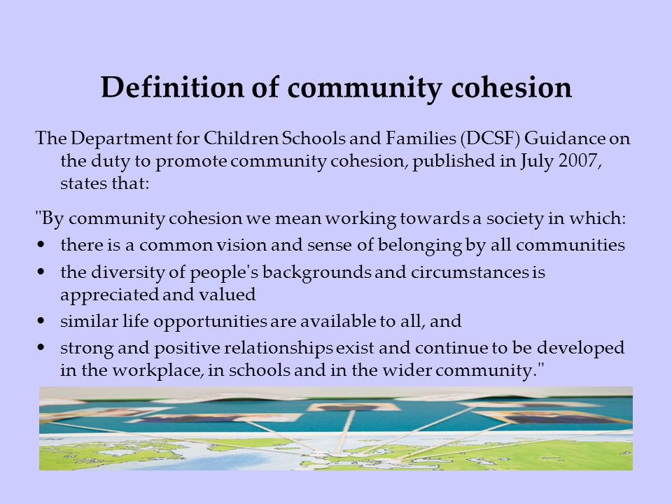 Definition of community cohesion