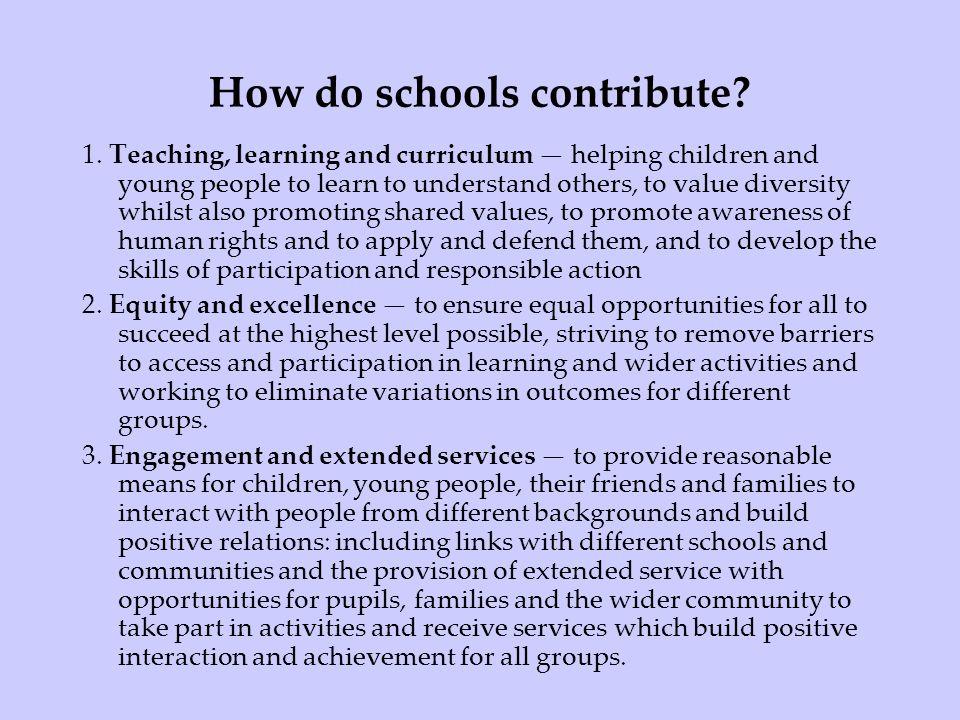 How do schools contribute