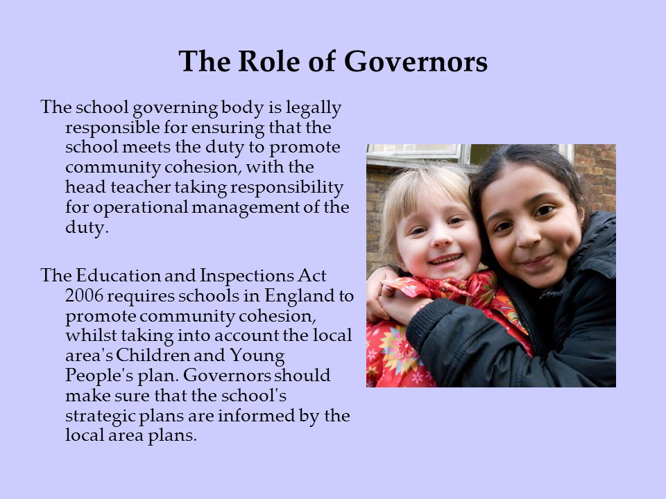 The Role of Governors
