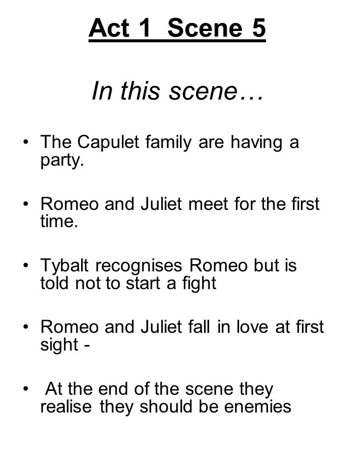 when does romeo meet juliet for the first time