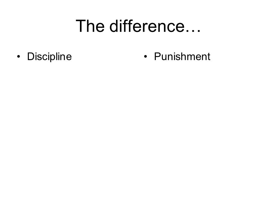 The difference… Discipline Punishment
