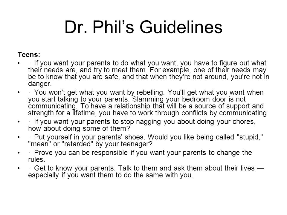 Dr. Phil's Guidelines Teens: