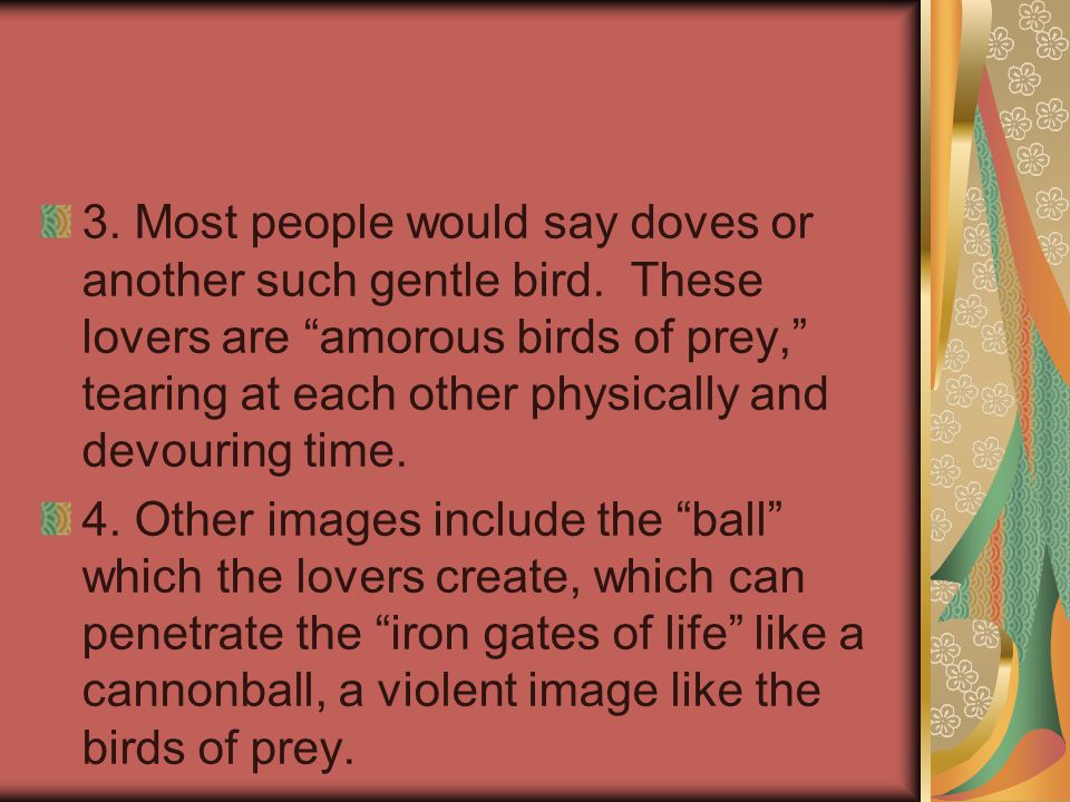 3. Most people would say doves or another such gentle bird