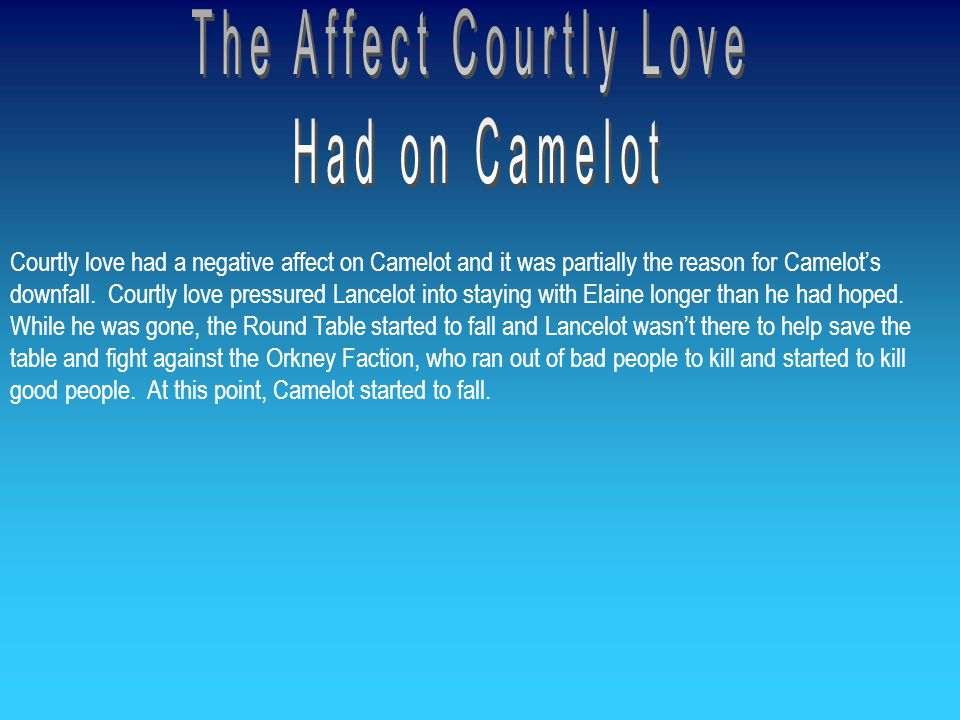 The Affect Courtly Love