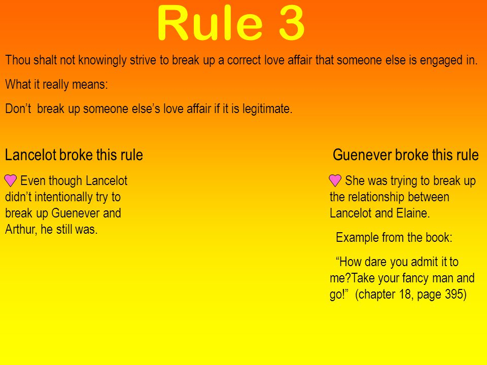 Guenever broke this rule