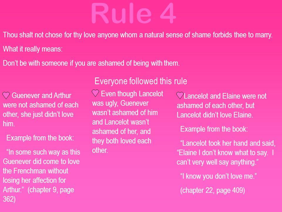 Everyone followed this rule