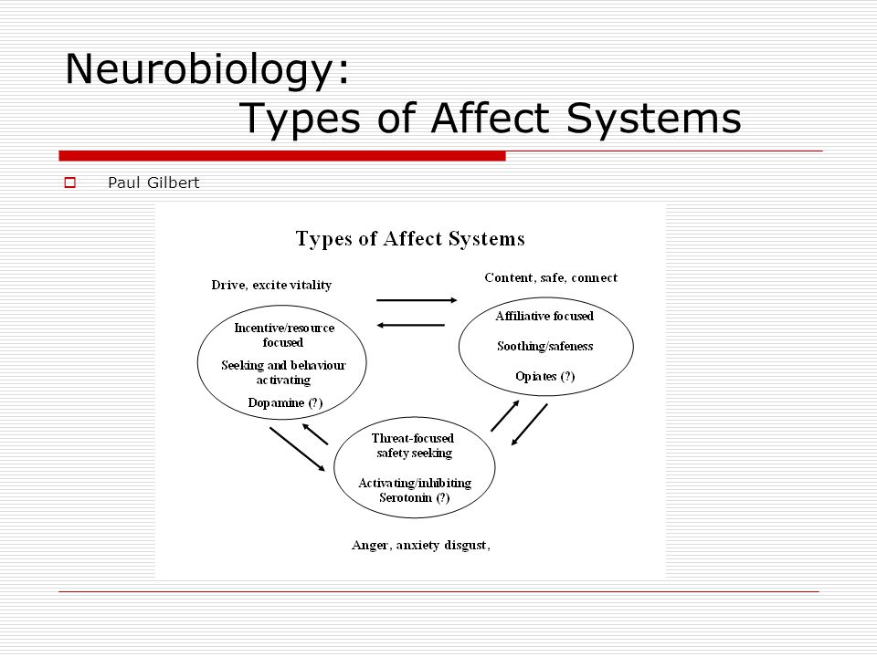 Neurobiology: Types of Affect Systems