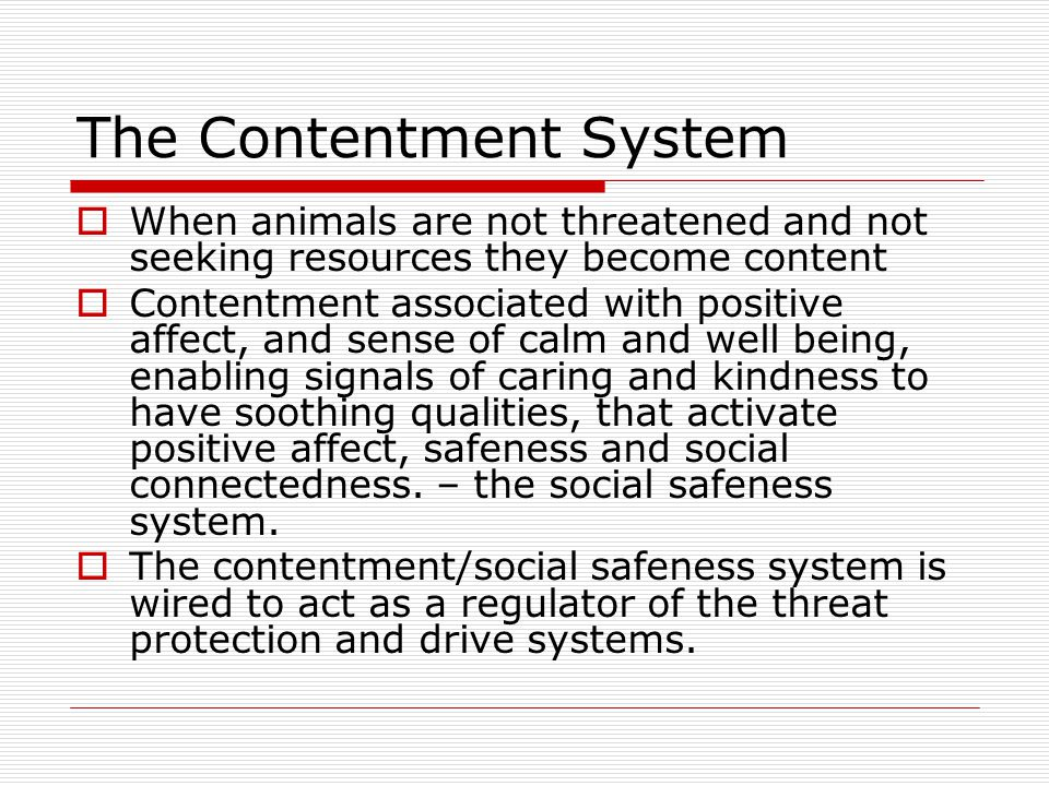 The Contentment System
