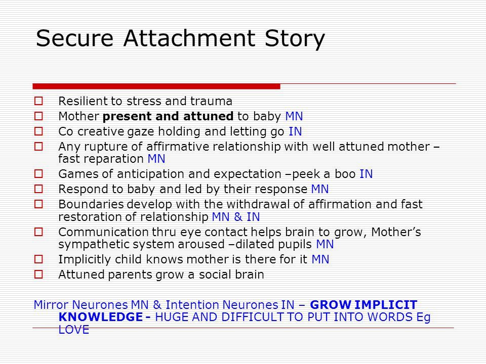 Secure Attachment Story