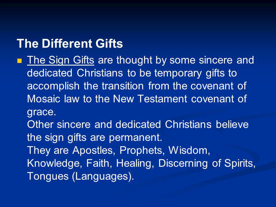 The Different Gifts